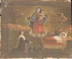 Una donna, al capezzale del figlio malato, invoca l'intervento della Madonna. - P.G.R.