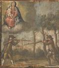 L'intervento della Madonna evita una tragedia tra due uomini duellanti con fucile (signorotto e brigante). - metà XVIII sec.