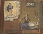 Un uomo, al capezzale della moglie ammalata, chiede la grazia a Maria.