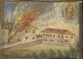 La Madonna salva i contadini dall'incendio della casa - P.G.R.