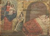 Una donna invoca la Madonna per la guarigione del marito.