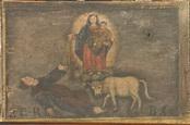 La Madonna protegge una donna aggredita  da un toro. -  P.G.R. B.C.