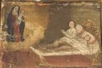 Madre, coricata a letto con la figlia malata, invoca la Madonna.