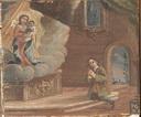 Nobiluomo inginocchiato all'altare, invoca la Madonna. - PGR - BM