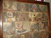 Gruppo di tavolette nella cornice commissionata da don Luigi Falsina nel 1930.