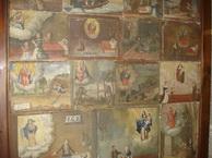 Gruppo di tavolette nella cornice commissionata da don Luigi Falsina nel 1930